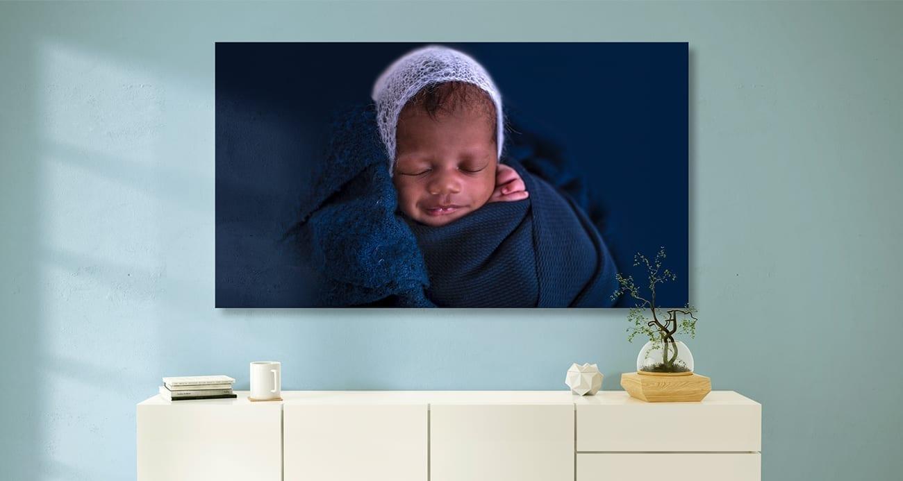foto producten van jouw newborn op canvas