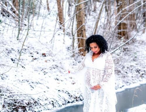 Een winter-wonderland fotoshoot in Vilvoorde met Catia!